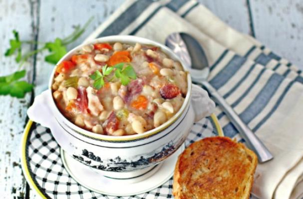 Hickory Ham and Navy Bean Soup