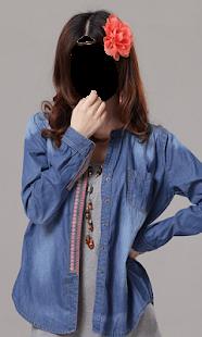 Girl Jeans Fashion Photo Frames - náhled