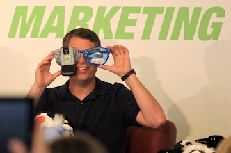 Photo: Matt Cutts and Google Goggles
