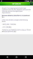 Screenshot of TELUS Network Experience