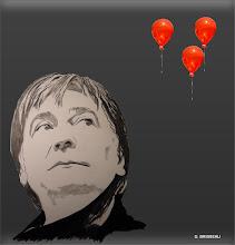 Photo: Serge Lama (les ballons rouges)