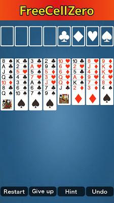 FreeCellZero - screenshot