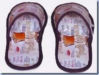 sandal coklat muda