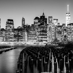 Midtown from Brooklyn  by Stephen Majchrzak - Buildings & Architecture Architectural Detail
