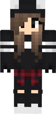 black cat girl skin for minecraft pe