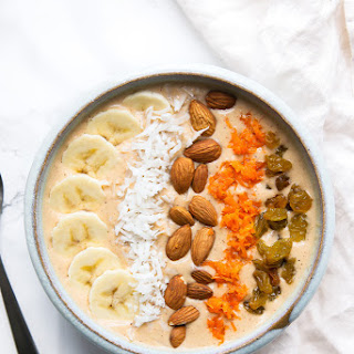Carrot Cake Smoothie Bowl.