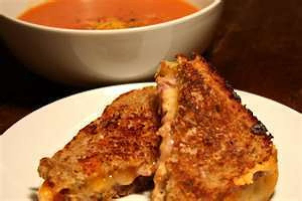 Serve steaming hot with grilled cheese sandwiches.