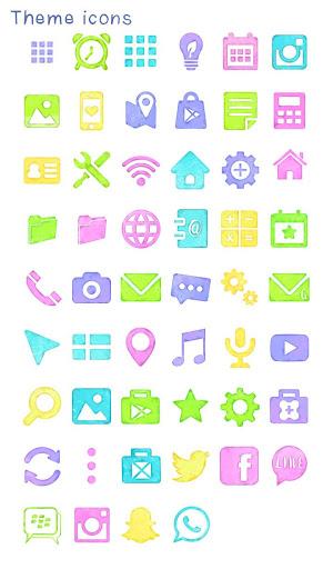 無料个人化Appの背景圖片/icon 水彩色塊|記事Game