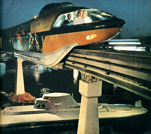 Gorgeous Vintage Disneyland Monorail Photos Broke Hoedown