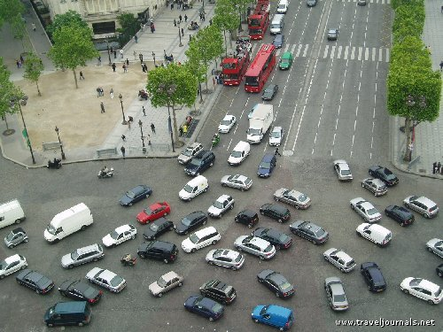 40337 crazy traffic at arc de triomphe paris france Worlds Worst Intersections & Traffic Jams