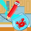Red Crab Draw - Fill the Glass icon