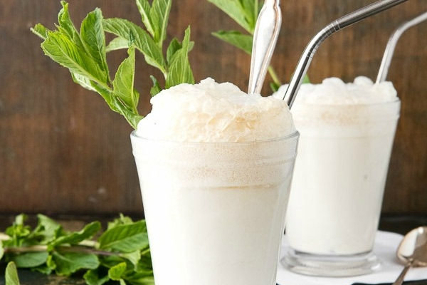 Homemade Mint Ice Cream & Mint Julep Derby Ice Cream Floats