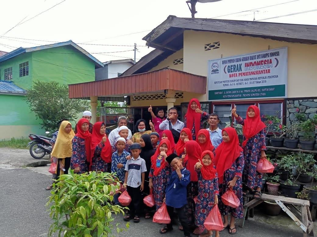 Gerak Indonesia Cabang Pematangsiantar Santuni anak Yatim