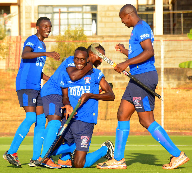Butali players celebrate during a recent KHU league match