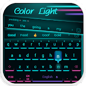 neon light cool keyboard future tech cable