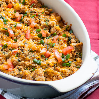 Turkey & Spinach Quinoa Casserole