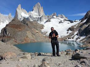 Photo: When I got up to Lago De Los Tres, with view of Mount Fitz Roy in the back. This was my first time trekking alone and also camping alone. I trekked for37.72km for a total elevation gain of 2150m. I was4.475 km short of finishing a marathon length that day.