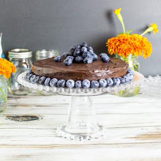 Chocolate Blueberry Cake w/ Chocolate Ganache