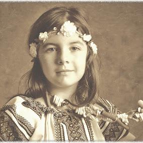 Vintage mood by Nicu Buculei - Babies & Children Child Portraits ( sepia, girl, children, romania, kids, portrait )