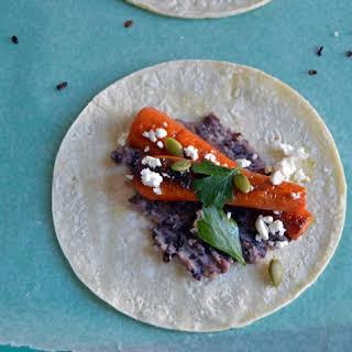 Welch's Grape Juice Glazed Carrot Tacos.