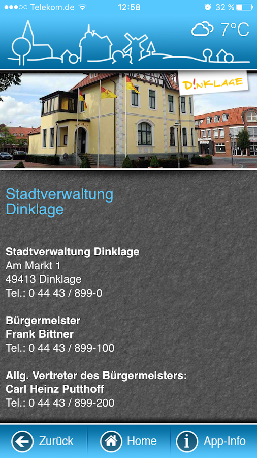 Dinklager App- screenshot