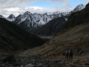 Photo: Early morning on the way to Cho La pass (5330m)