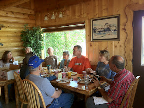 Photo: Group Dinner at Smiley Creek Lodge
