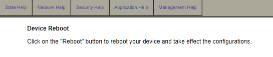 Device reboot