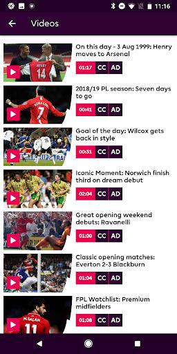Premier League - Official App screenshot