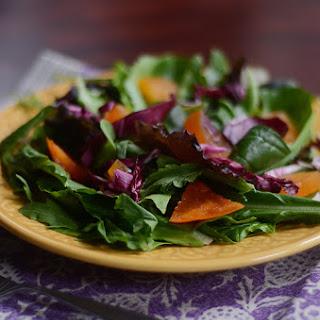 Fall Persimmon Salad with Lemon Honey Dressing