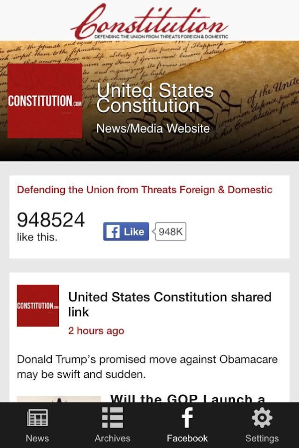 Constitution.com- screenshot