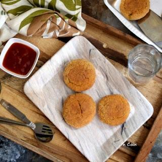 Baked Stuffed Sweet Potato Patties (Dhansak Flavored) Recipe