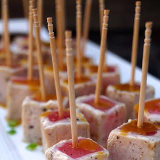 Wasabi Glazed Seared Ahi Tuna