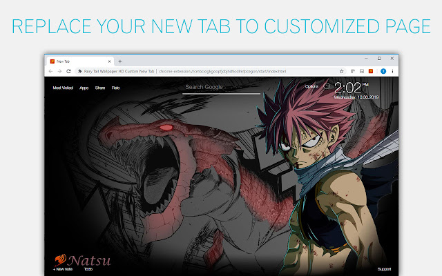 Fairy Tail Wallpapers HD Custom Anime New Tab