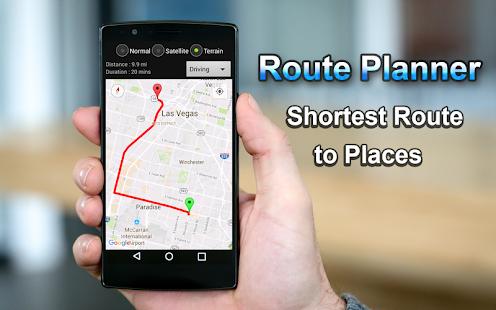 Plánovač tras GPS map