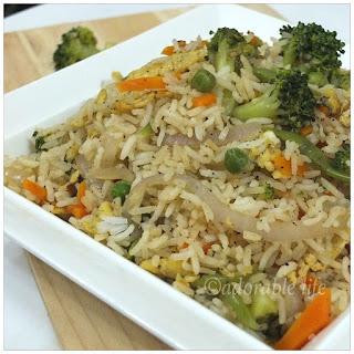 Broccoli-Egg-Fried Rice Recipe