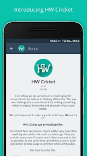 Fast cricket scores HW Cricket- screenshot thumbnail