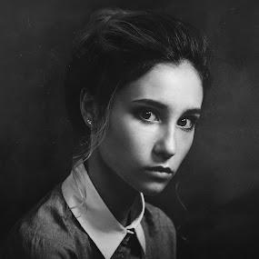 Diana by Dmitry Baev - People Portraits of Women ( studio, model, monochrome, woman, beautiful, portrait )