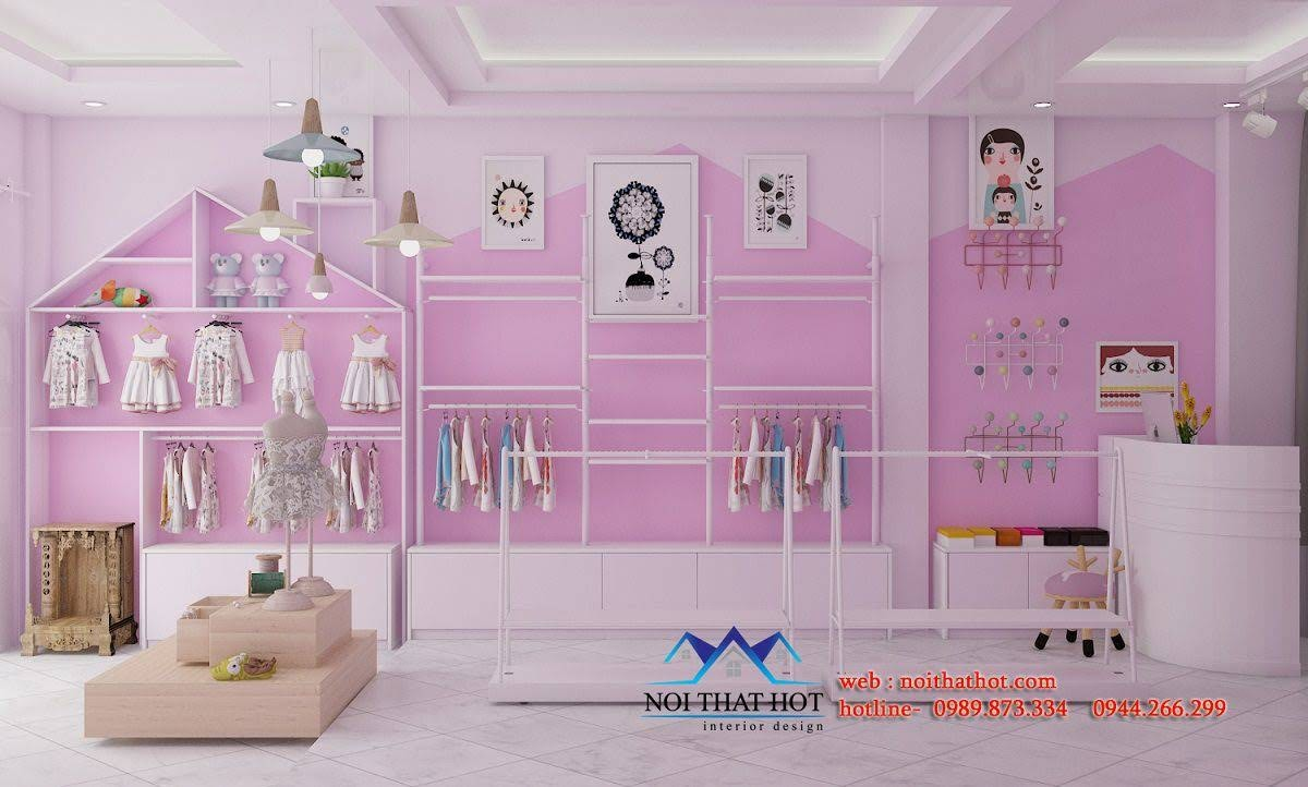 thiết kế cửa hàng trẻ em shop me ken 3
