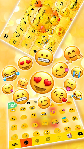 Emojis 3D Gravity Keyboard Theme screenshots 3