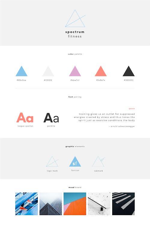 Spectrum Brand Board - Brand Board Template