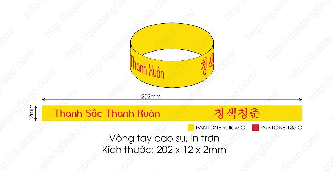 Vòng tay nhựa dẻo Thanh sắc thanh xuân - Hàn Quốc