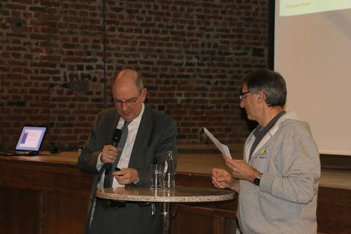 Leo verwelkomt minister Koen Geens in Gooik.