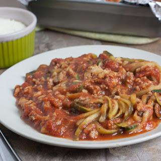 Gluten-Free Zucchini Noodle Spaghetti