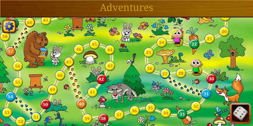 Adventures: free board game with dice & quiz mode  screenshots 1