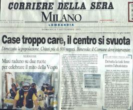Photo: Prima pagina inserto Milano