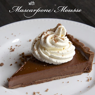 Chocolate Crostata with Mascarpone Mousse