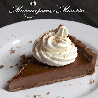 Chocolate Crostata with Mascarpone Mousse.