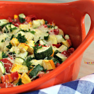 Zucchini Bake - A colorful side dish for your dinner table.