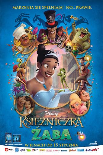 Polski plakat filmu 'Księżniczka i Żaba'